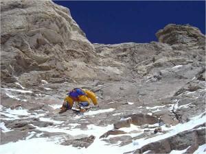Tram més difícil de la Màgic Line K2: a 8.000 m superant el V grau.